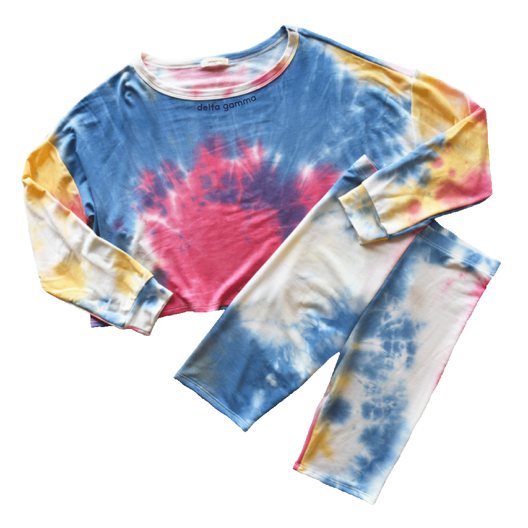Totally Tie-Dye Set Delta Gamma