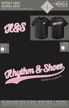 Reorder of Rhythm & Shoes - Baseball Jersey (Adult Black)