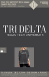 Texas Tech Tri Delta - Campus Pullover (Charcoal)