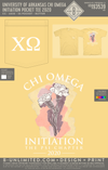 UofA Chi O - Initiation Pocket Tee 2020 (Butter)