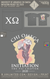 UofA Chi O - Initiation Pocket Tee 2020 (Grey)