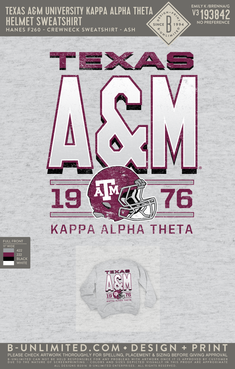 Texas A&M Theta - Helmet Sweatshirt
