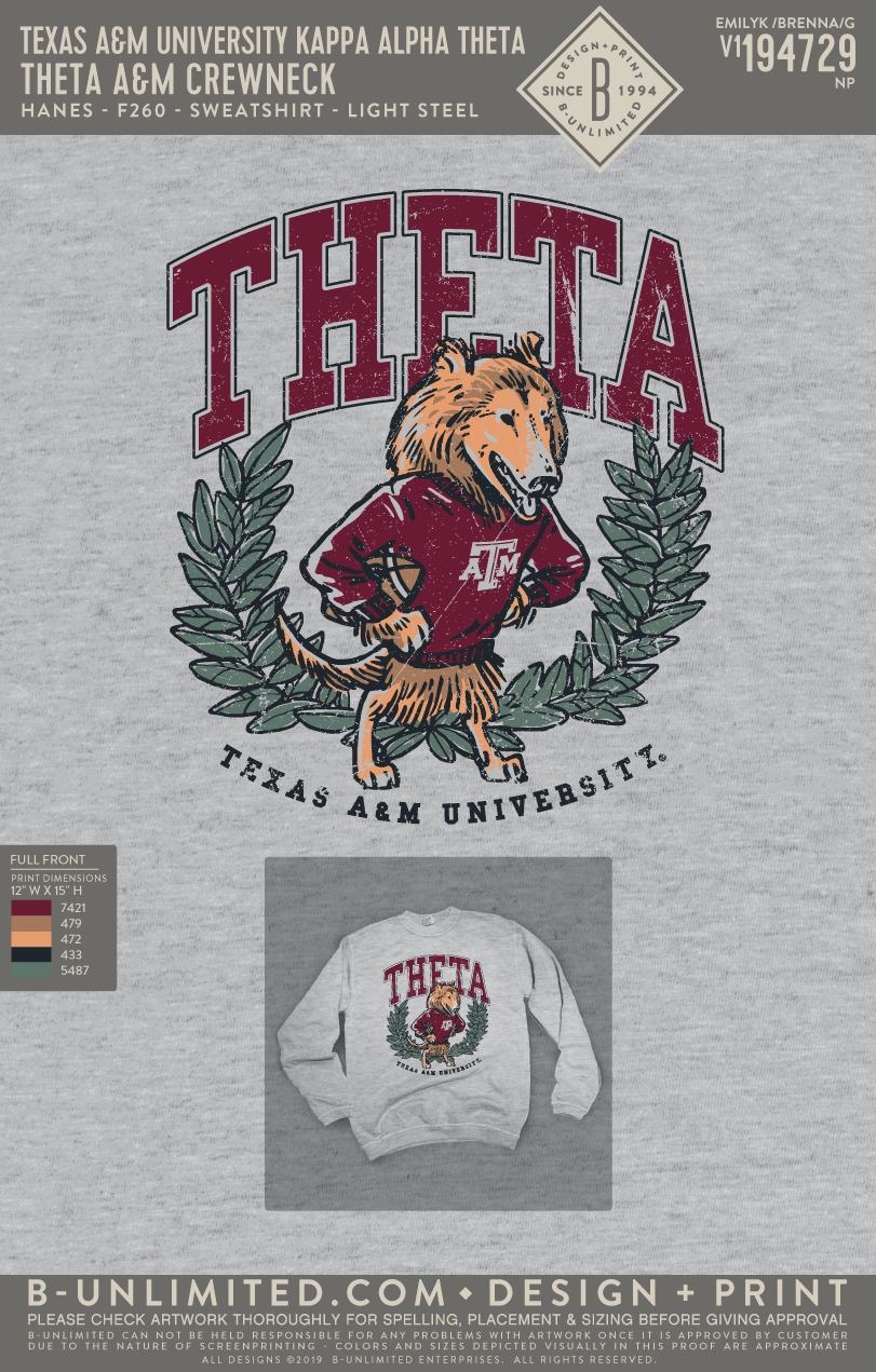 Texas A&M Theta - Theta A&M Crewneck