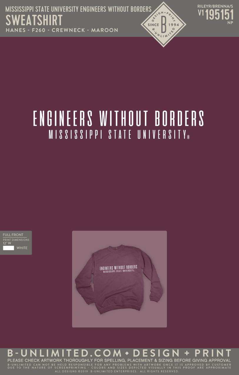 Miss State Engineers Without Borders - Sweatshirt
