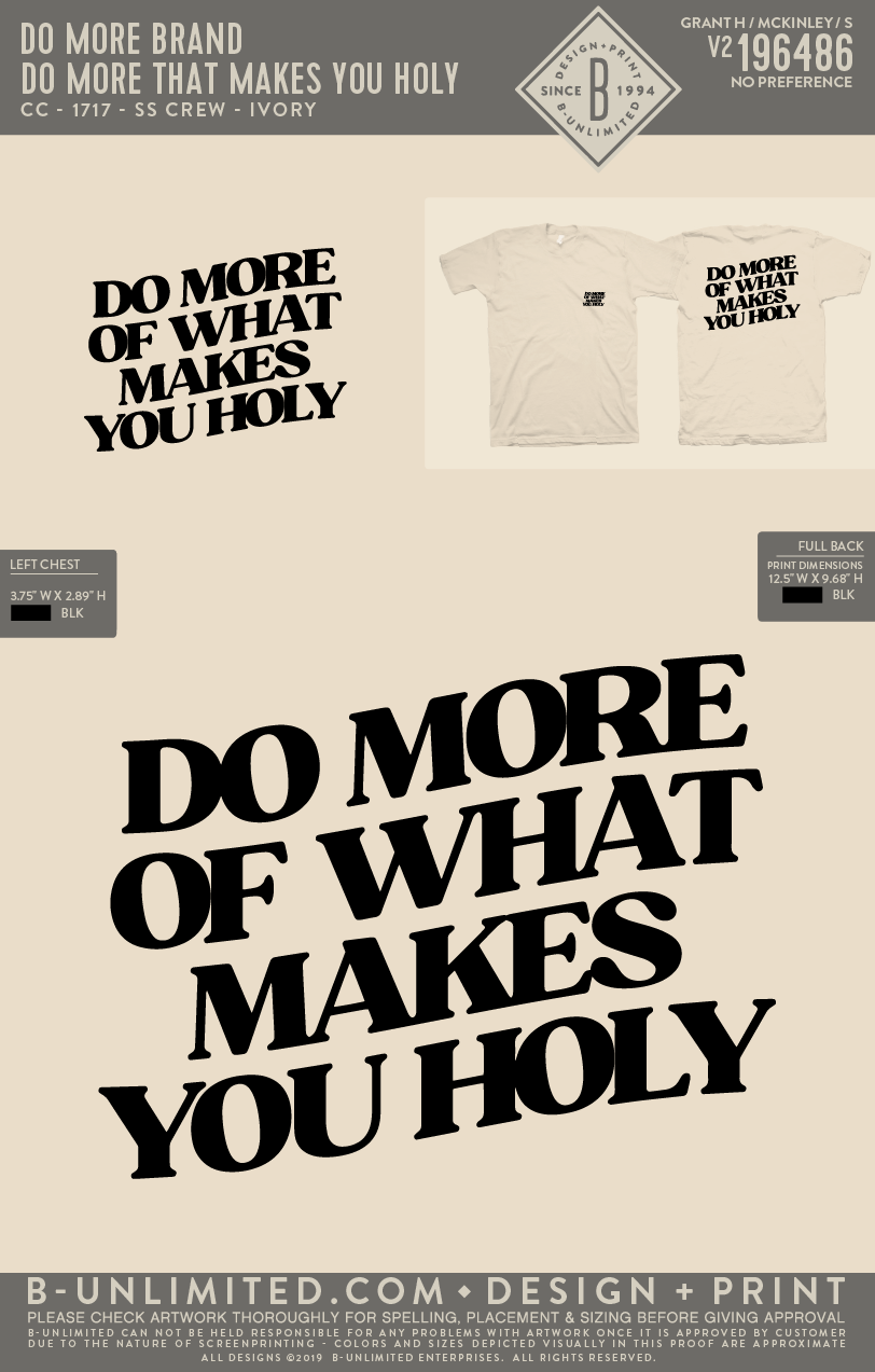 Do More - Modern Holy - SS Crew (Ivory)