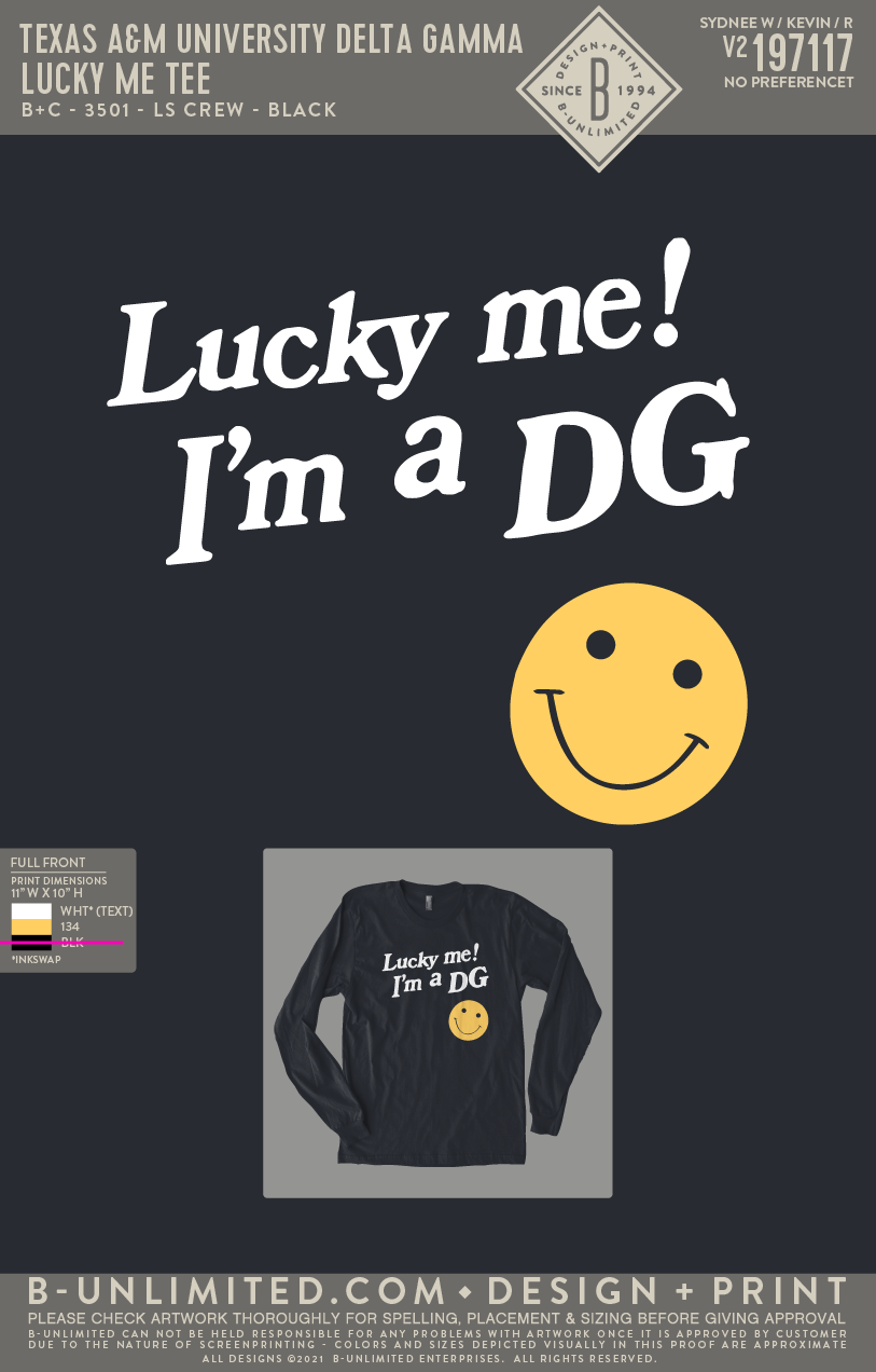 Texas A&M DG - Lucky Me Tee (BLACK)