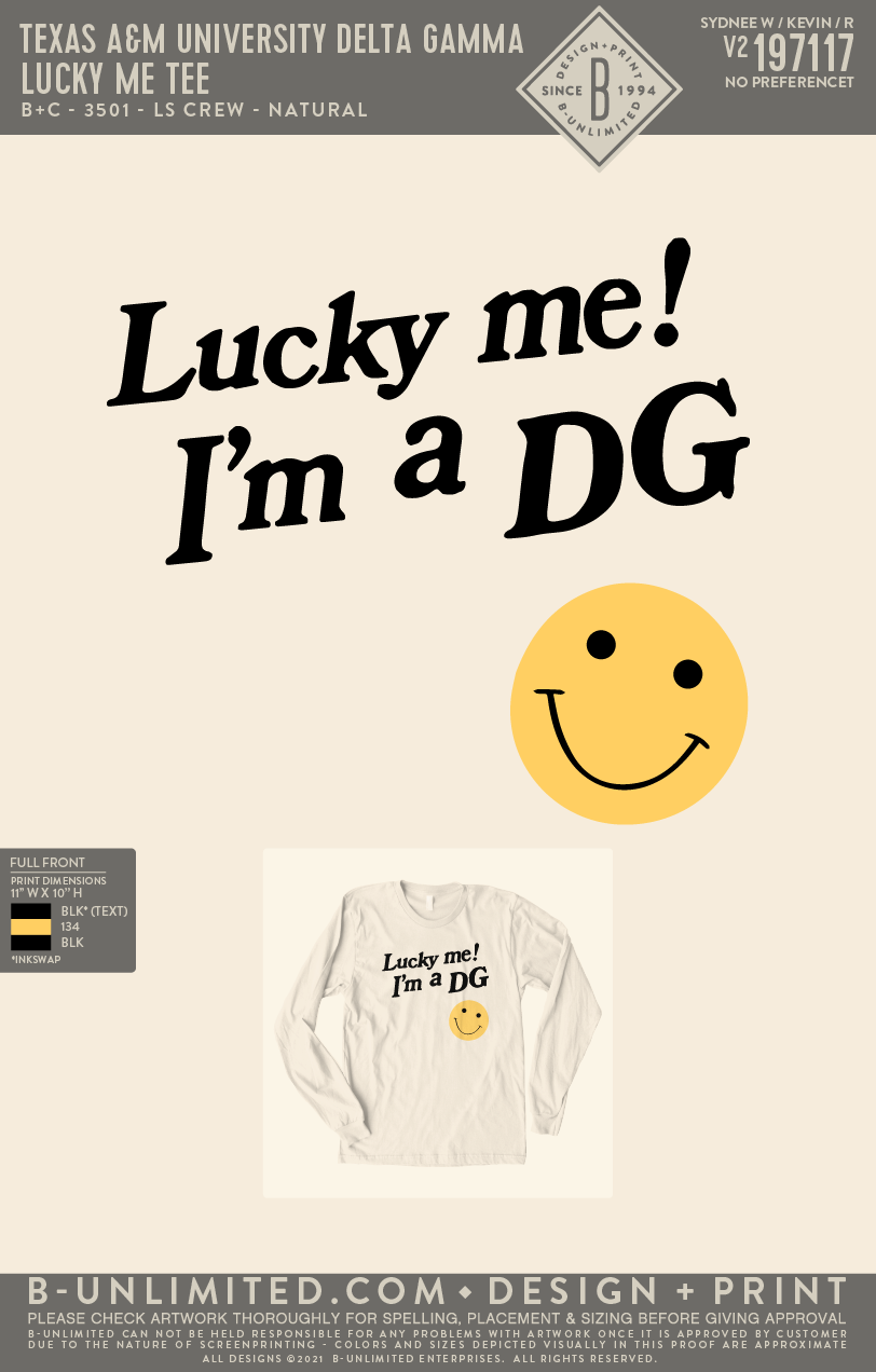 Texas A&M DG - Lucky Me Tee (NATURAL)