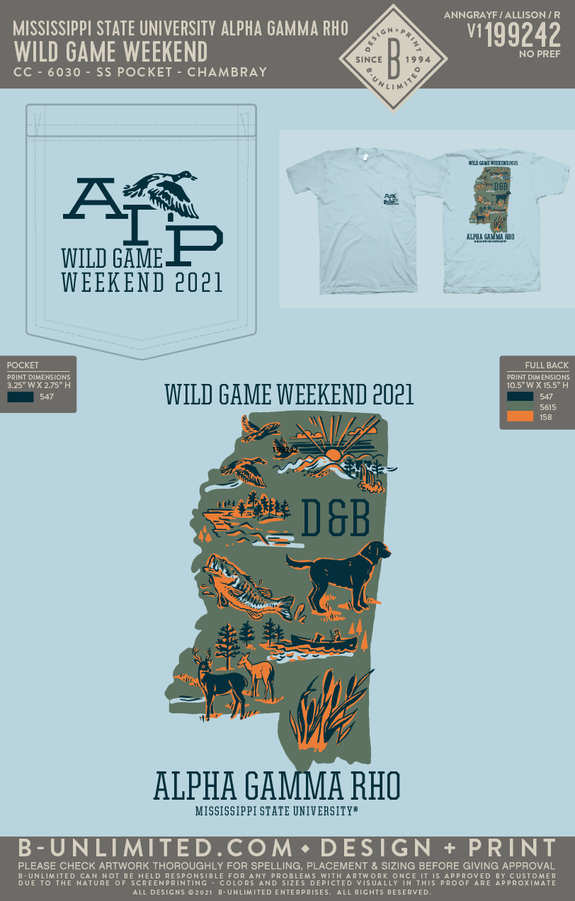 Miss State AGR - Wild Game Weekend