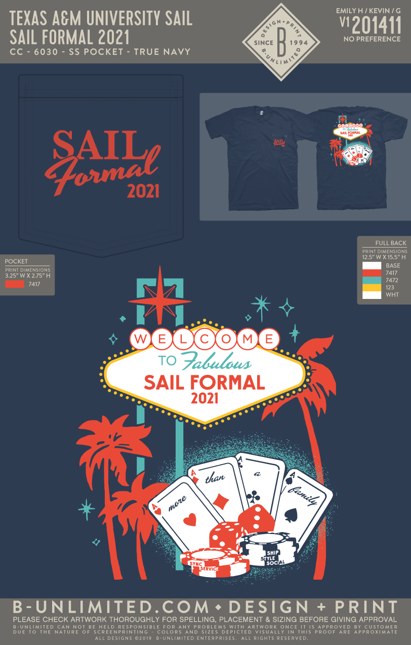 Texas A&M SAIL - SAIL Formal 2021 (True Navy)