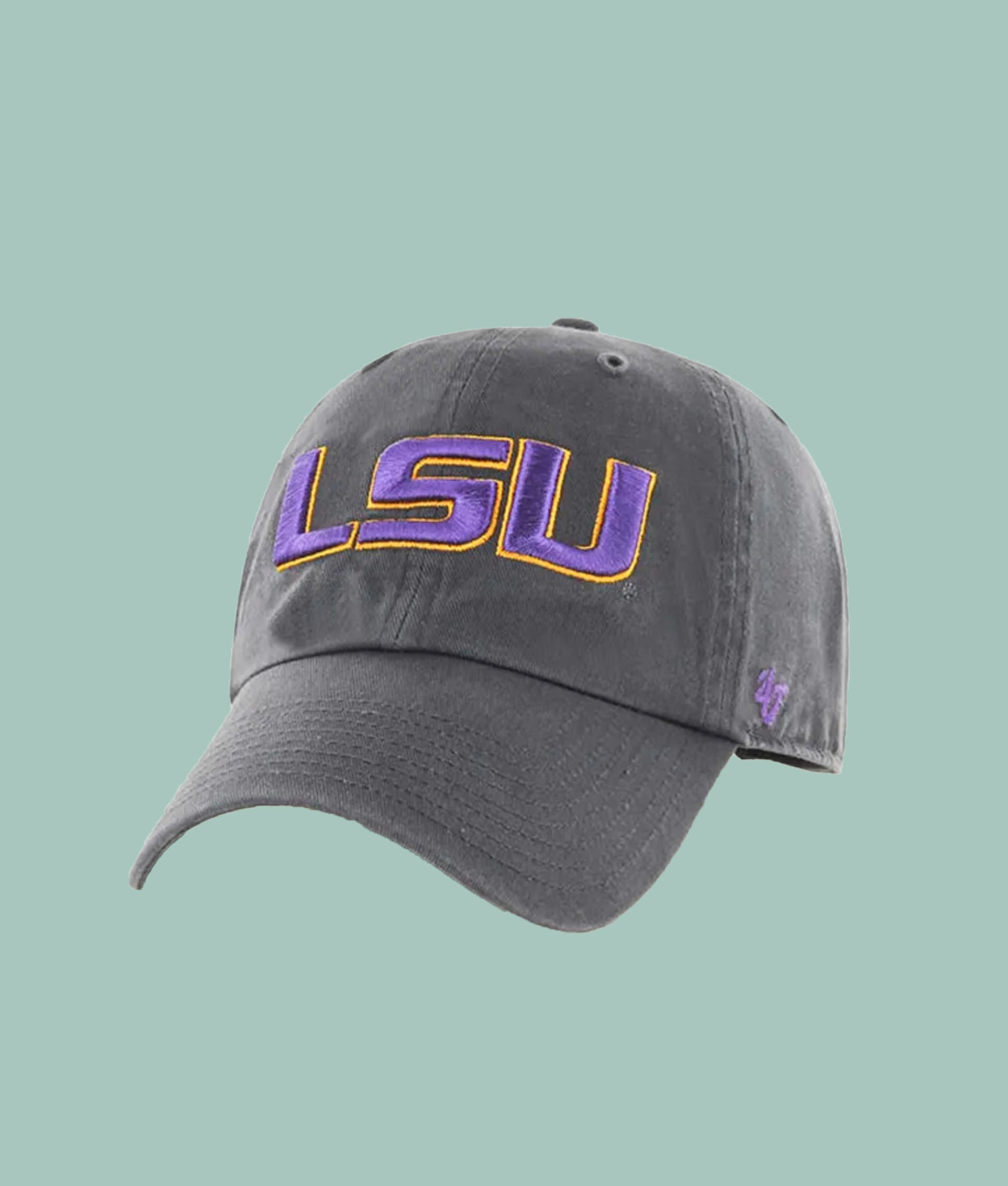 LSU Charcoal 47 Clean Up Hat