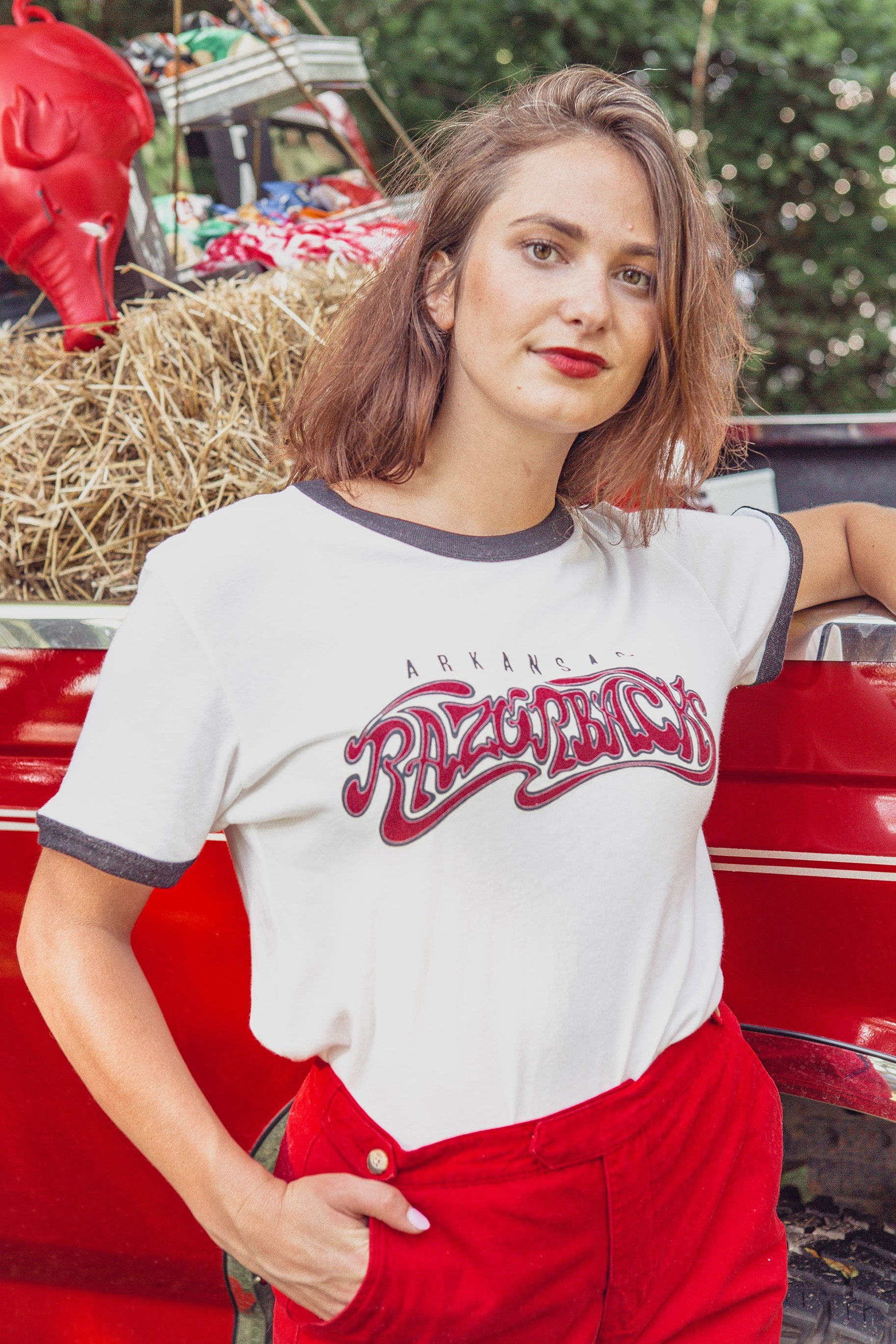 Dream On Razorback Ringer T-Shirt