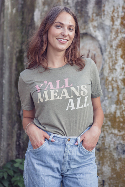 Y'all Means All T-Shirt Olive