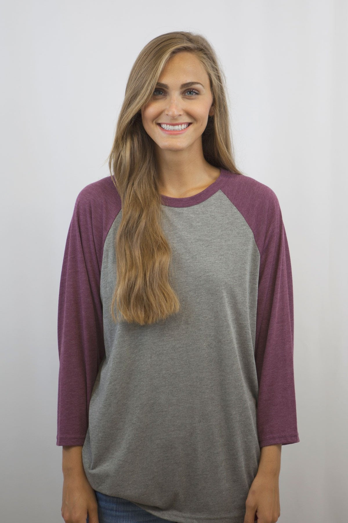Bella + Canvas 3200 Unisex 3 Quarter Sleeve Baseball Tee