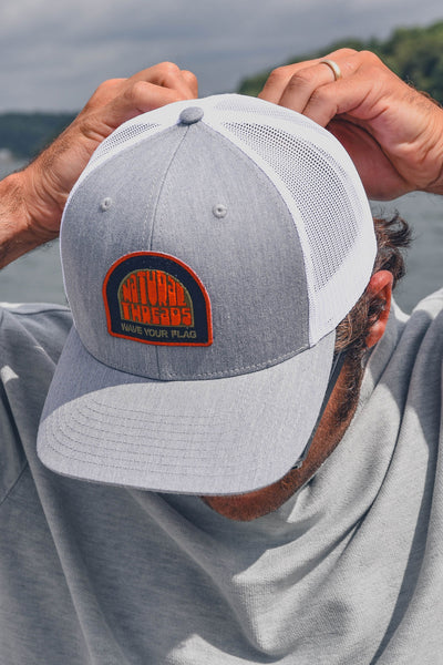 Wave Your Flag Patch Hat Heather Grey