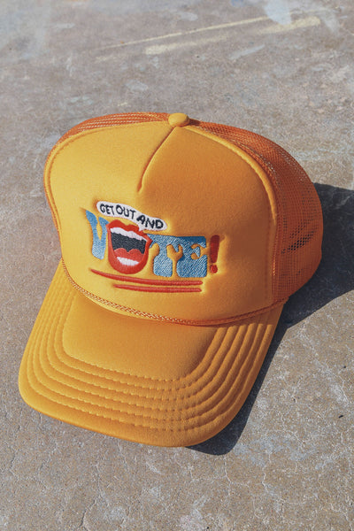 Get Out and Vote! Hat Gold