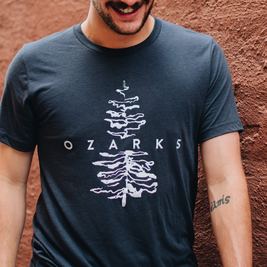 The Ozarks Tee (Solid Black Triblend)