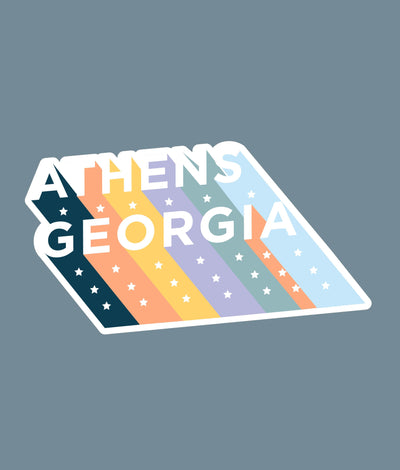 Athens Die Cut Stickers