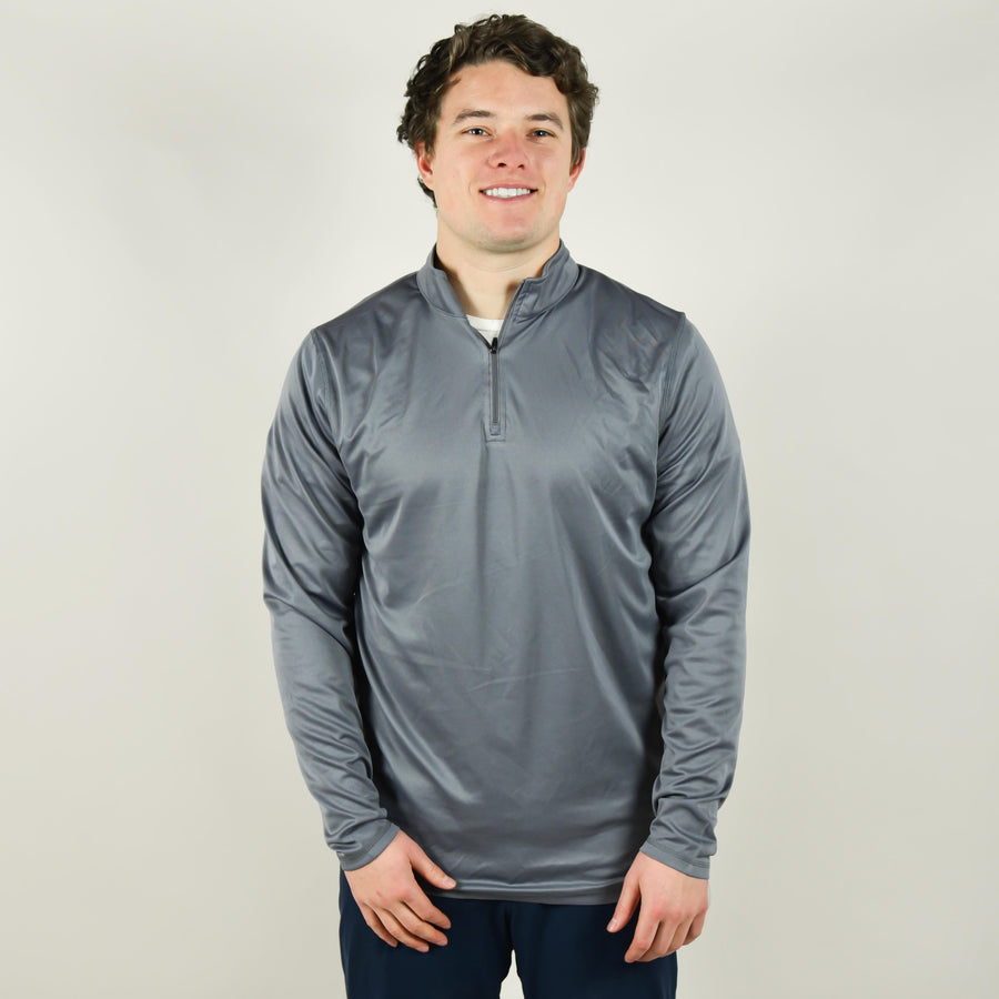 Model wearing Augusta 2785 1/4 Zip Athletic Pullover