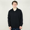 Model wearing Bella Canvas 3740 Quarter Zip Pullover Fleece