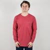 Model wearing Comfort Colors 4410 Long Sleeve Pocket Tee