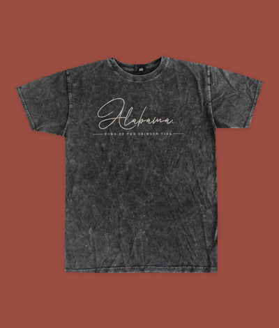 Alabama Script Home Of The Crimson Tide Everybody Tee