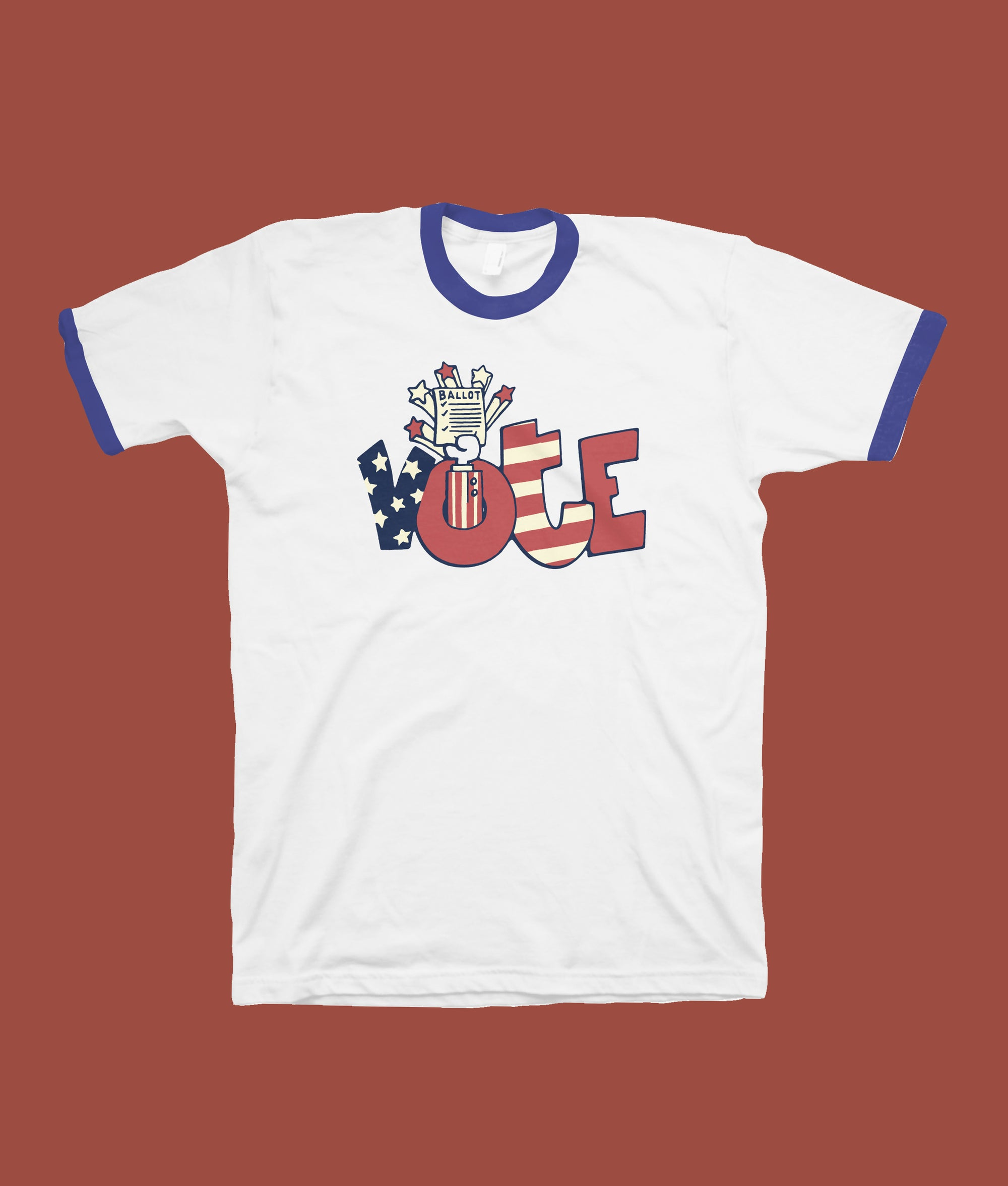 Show Me Your Ballot Ringer T-Shirt