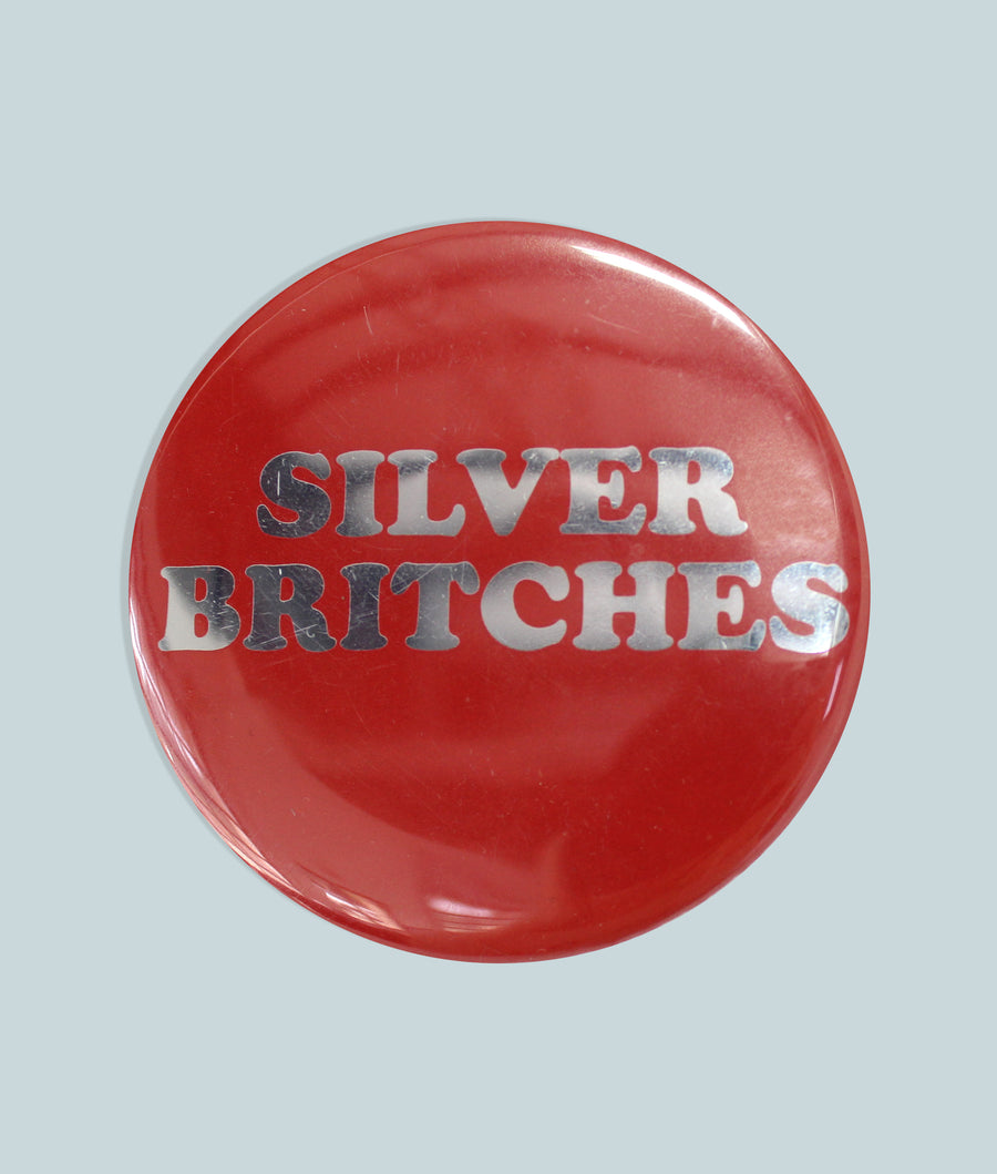 Silver Britches Button