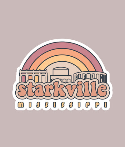 Starkville Die Cut Stickers