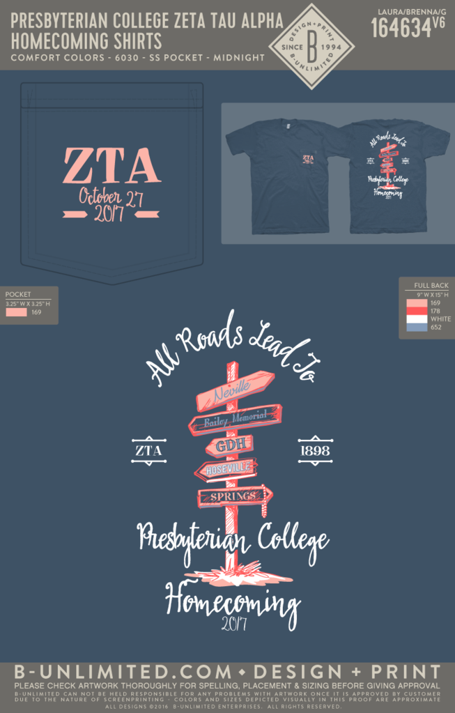Zeta Tau Alpha - Kappa Beta Chapter - Homecoming Shirts
