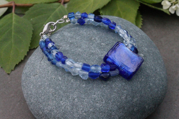 Clearance - Double Strand glass bead bracelet #5