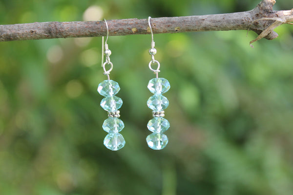 Clearance - Aqua Glass Earrings