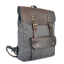 Load image into Gallery viewer, Genuine Leather Canvas Omnisex Backpack-vibes.berlin-vibes.berlin
