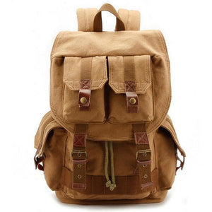 Large Canvas Omnisex Army Backpack - vibes.berlin