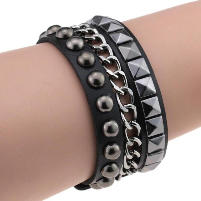 Multilayer Cuff Leather Omnisex Bracelet