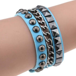 Multilayer Cuff Leather Omnisex Bracelet - vibesberlin1