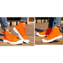 Load image into Gallery viewer, Casual Canvas Athleisure Bright Color Boots - vibes.berlin