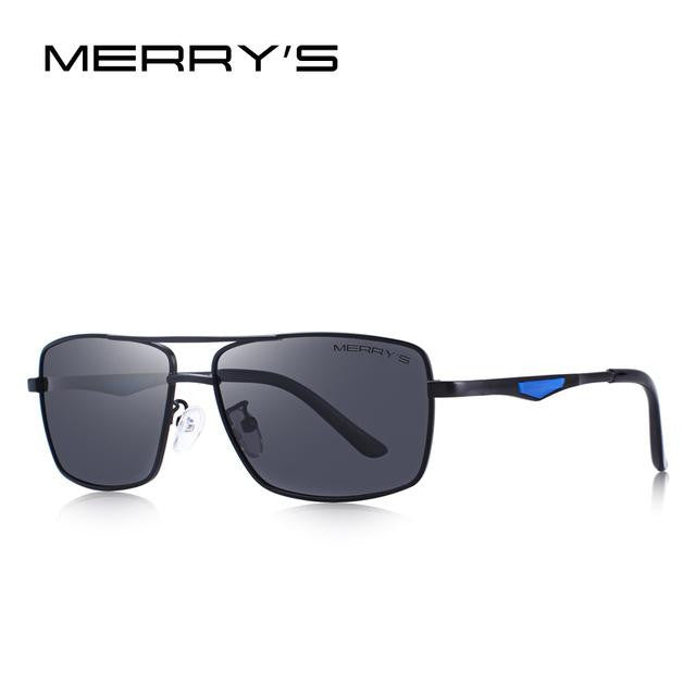 Polarized Rectangle Sunglasses UV 400 Protection-vibes.berlin-C01 Black-vibes.berlin