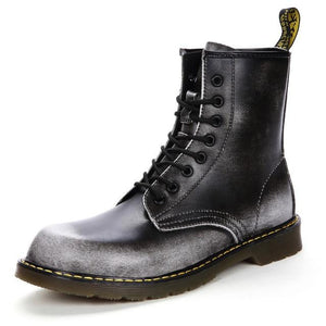Genuine Leather Hipster Boots