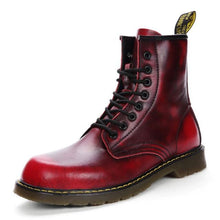 Load image into Gallery viewer, Genuine Leather Hipster Boots-vancat-vibes.berlin-Dark red-38-vibes.berlin