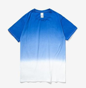 Printed Gradation Omnisex T-Shirt-inflation-vibes.berlin-blue white-M-vibes.berlin