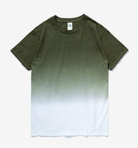Printed Gradation Omnisex T-Shirt-inflation-vibes.berlin-green white-XXL-vibes.berlin