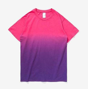 Printed Gradation Omnisex T-Shirt-inflation-vibes.berlin-red purple-M-vibes.berlin