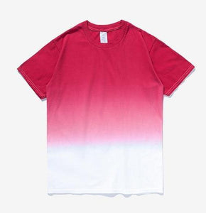 Printed Gradation Omnisex T-Shirt-inflation-vibes.berlin-red white-M-vibes.berlin