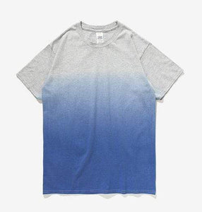 Printed Gradation Omnisex T-Shirt-inflation-vibes.berlin-grey blue-M-vibes.berlin