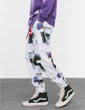 Load image into Gallery viewer, Graphic Print Track Omnisex Pants - vibes.berlin