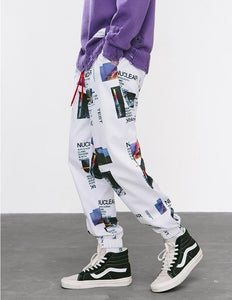 Graphic Print Track Omnisex Pants - vibes.berlin