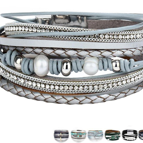 Multiple Layers Leather Omnisex Bracelet - vibesberlin1