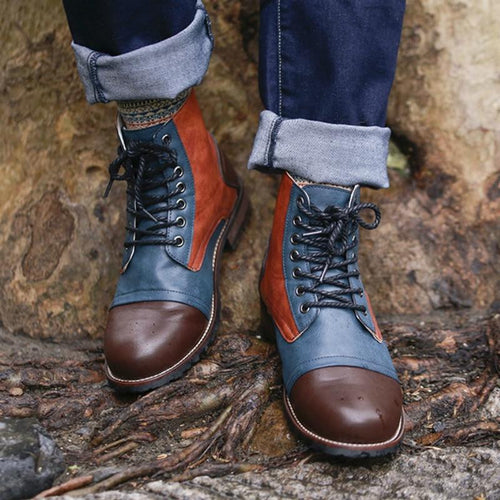 Mixed Colors Hipster Boots