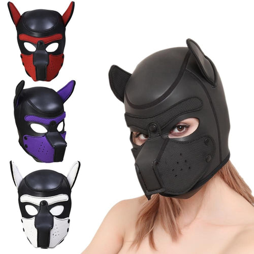 Omnisex Full Head Rubber Dog Mask-vibes.berlin-vibes.berlin