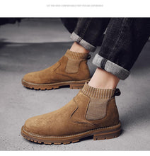 Load image into Gallery viewer, Handmade Genuine Leather Hipster Chelsea Boots